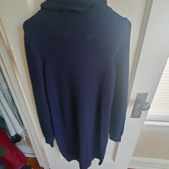 Asos, Cowl Neck, Navy Sweater Dress